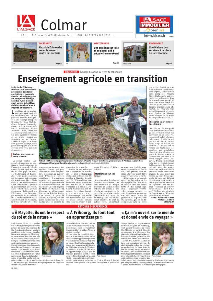 thumbnail of Article journal Alsace – Projet APPEL et SEFerSol – 26.09.2019